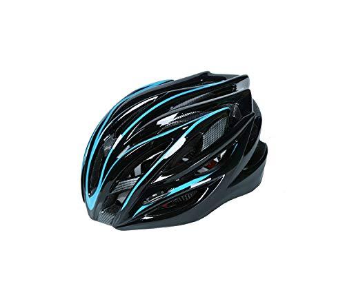 Arbre Fahrradhelm, einteiliger Helm, verstellbar, poröser Mountainbike-Helm (blau + schwarz)