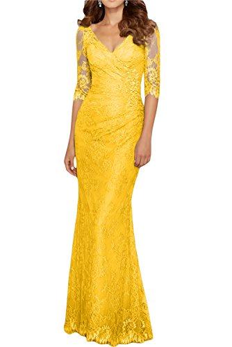 Gorgeous Bride Fashion Halb Aermel Lang Meerjungfrau Satin Tuell ...