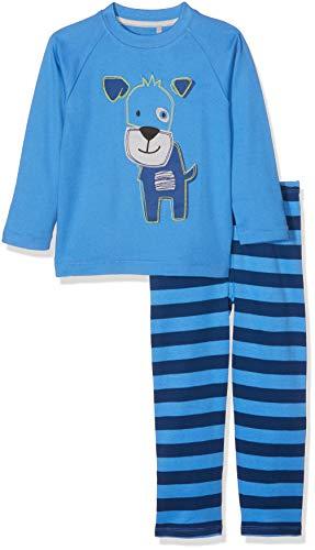 Sigikid Jungen Pyjama, Mini Zweiteiliger Schlafanzug, Blau (Regatta 527), 128 (Pyjamas Kleinen Hund Jungen Hund)