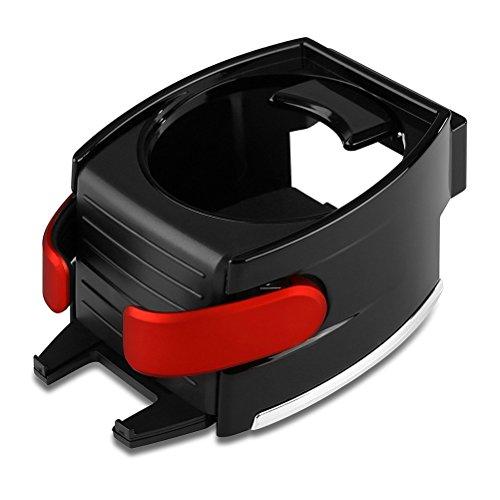 Preisvergleich Produktbild VORCOOL Getränkehalter Handyhalterung Multifunktion Auto Becherhalter Lüftungshalterung Air Vent Mount (Rot)