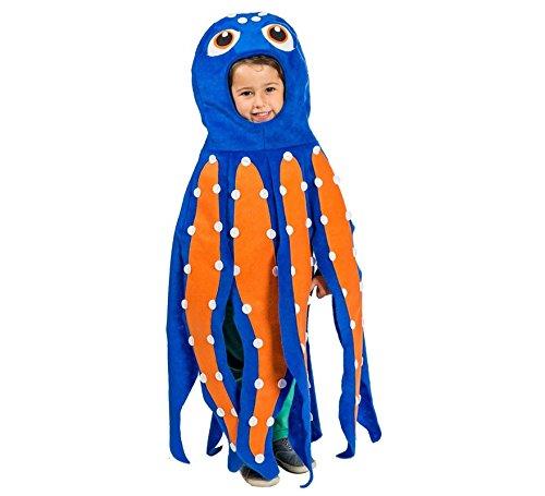 Kostüm Kinder Krake - Kraken-Tentakel Kostüm für Kinder T-1 (3/5 Jahre)
