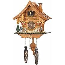 Orologio a cucù al quarzo Casa tipo Foresta Nera con musica TU 471 QM