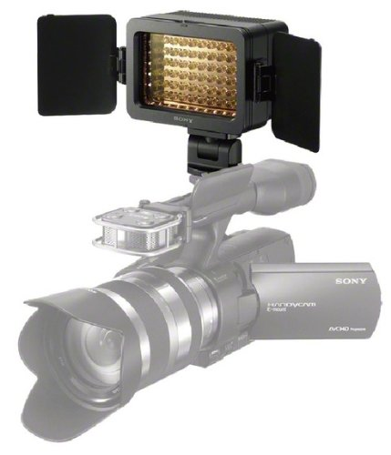 Sony HVL-LE1 LED Videoleuchte (bis zu 1800 Lux, schwenkbar, Dauerlicht, geeignet für Camcorder und Kameras) - Sony-hvl