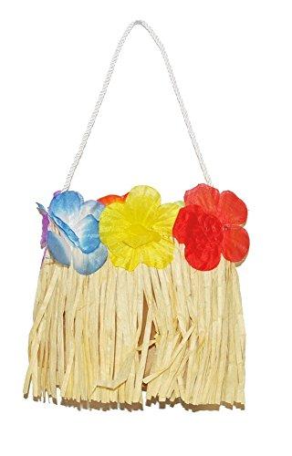 Handtasche zum Hawaii Kostüm - für Südsee, Hula und Beachparty (Bast Kostüme)