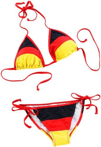 Speeron Fan Artikel: Bikini im schwarz-rot-goldenen Deutschland-Design, Gr. S - Rücken Ihren Sie Sehen