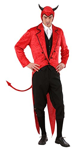 WIDMANN 57282 - Costume da Diavolo 'Mister Luis Cifer' in Velluto, Taglia M
