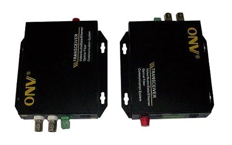 Optic Optical Fiber Extender Transceiver 2 CH Video Transmitter Receiver