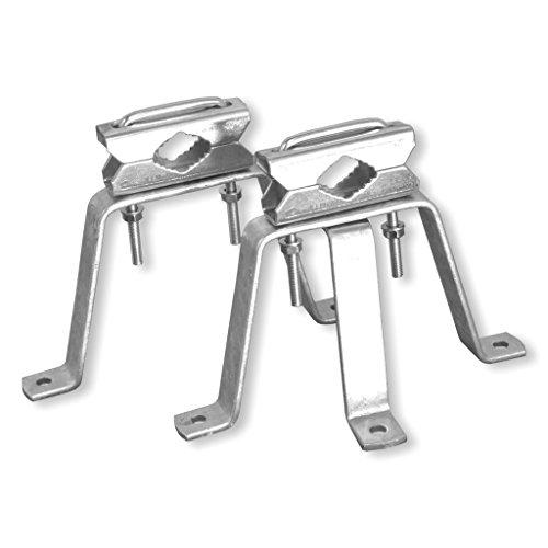 Mauerhalterset Stahl - ca. 150mm Wandabstand - für Masten bis 60mm