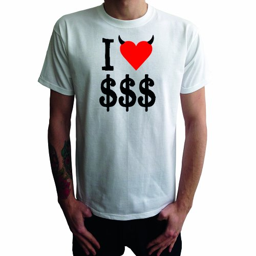 I don't love $ Herren T-Shirt Weiß