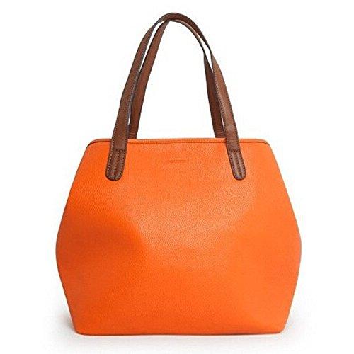 fanhappygo Geprägte Retro Leder Handtaschen Abendtaschen Damen Schulterbeutel Umhängetaschen braun