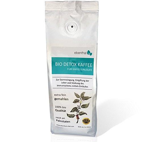 EBENTHAL ™ Bio Detox-Kaffee: Einlaufkaffee zur Darm-Reinigung mit Kaffeeeinlauf 250 g 1er Pack