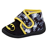 DC Comics Boys Batman Slipper Booties Kids Character Nursery House Shoes Size