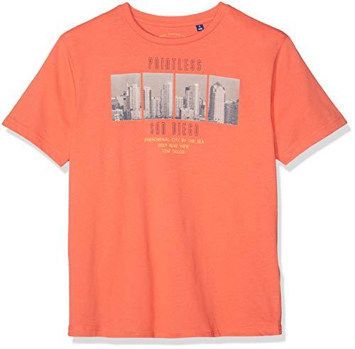 en Placed Print T-Shirt, Beige (Coral 2670), (Herstellergröße: 140) ()