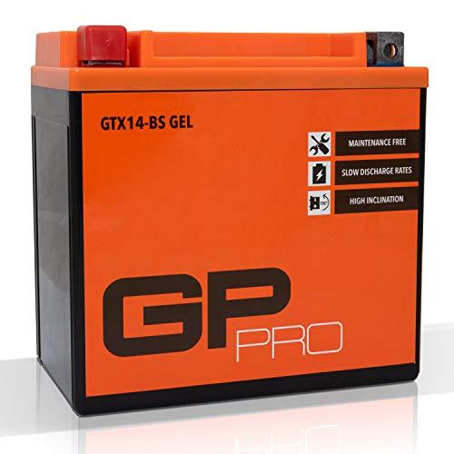 Batterie 12V 14Ah Gel GP-Pro (TYP - GTX14-BS / ähnlich YTX14-BS) (versiegelt / wartungsfrei)