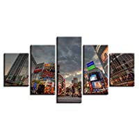 VCTQR 5 consecutive paintingsPrint HD pictures decorate modern living room home 5 pieces city architecture landscape poster modular canvas wall art