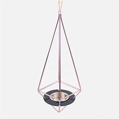Staccabile Da Appendere Set geometrico custodia porta candela fiore Air pianta vaso Himmeli Viola