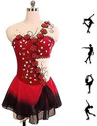0f6e24464629 DUBAOBAO Figura Pattinaggio Vestito Donna Ragazze Pattinaggio Vestito  Rosso