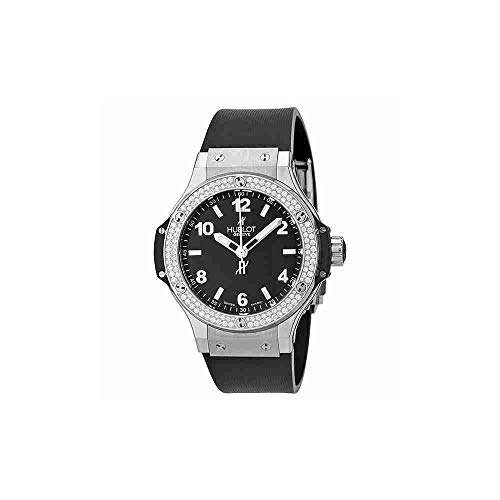 Hublot Big Bang Black Dial Diamond Black Rubber Ladies Watch 361.SX.1270.RX.1104