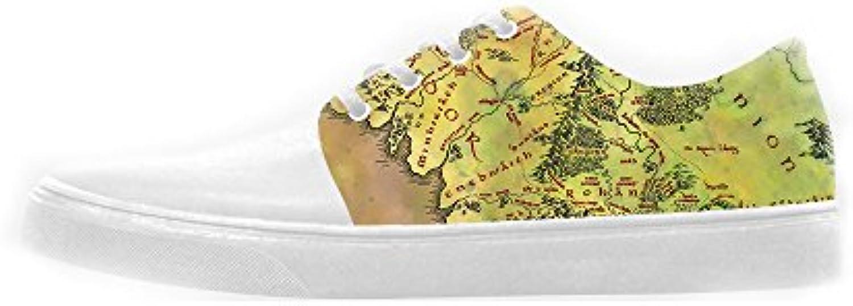 Custom Mappa del mondo Wouomo Canvas scarpe Le scarpe le scarpe le scarpe. | il prezzo delle concessioni  | Gentiluomo/Signora Scarpa