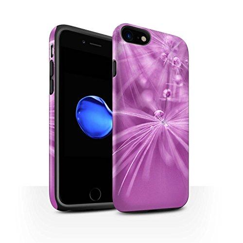 STUFF4 Matte Harten Stoßfest Hülle / Case für Apple iPhone 8 / Rosa Blume Muster / Blumen Fee Tropfen Kollektion Rosa Blume