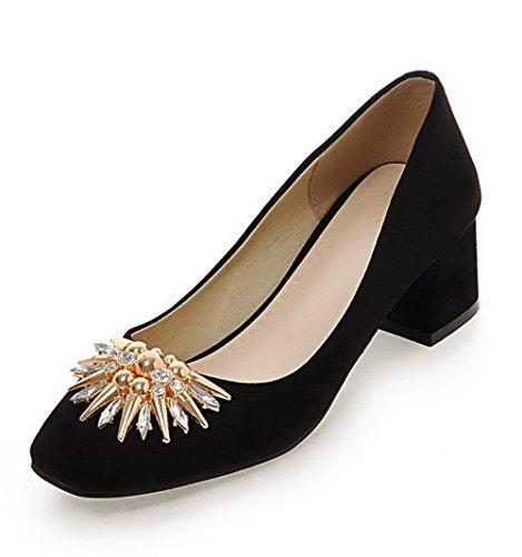 Légeres Correct Chaussures Carré Noir Couleur Femme Talon C758wxn