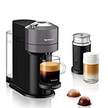 Nespresso Vertuo Next with Aeroccino, by Magimix - Dark Grey,11711 -Claim 50 coffee capsules plus 2 months' (1st & 6th) coffee subscription for free when you buy this product