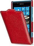 StilGut Esclusiva Custodia UltraSlim Vera Pelle per Nokia Lumia 720 - Rosso
