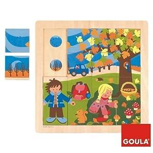 Goula–Giocattolo in Legno–Eveil–Puzzle