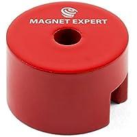 Imán expertos albu2516m5–4botón Imán, 5mm de diámetro agujero central (Pack de 4)
