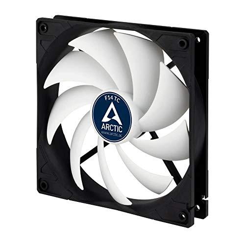 Arctic F14 TC - Temperaturgesteuerter 140 mm Gehäuselüfter | Standard Case Fan | Temperatursensor...