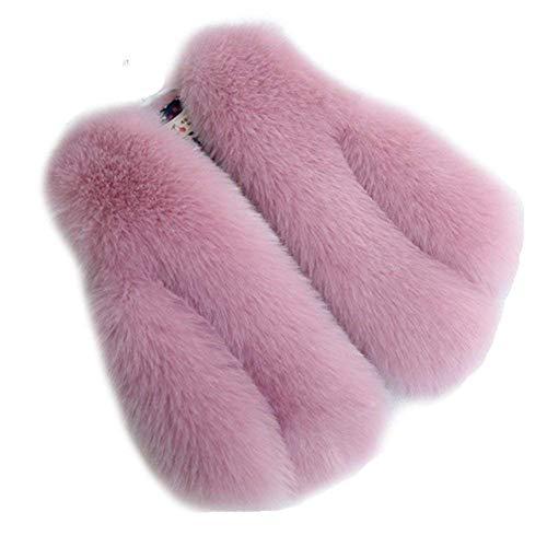 Folobe bambino e donna faux fox fur coat jacket gilet caldo inverno caldo gilet bambini outwear corto slim vest