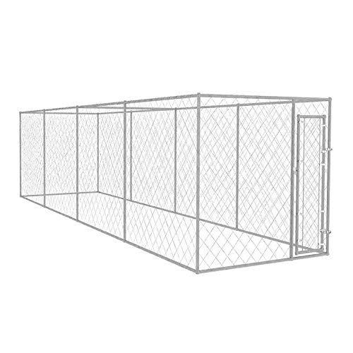 WT Trade Premium XXL Outdoor-Hundezwinger für Draußen mit Tür | 800x200x195cm | Hundehütte Hundekäfig Hundehaus Hütte | außen Auslauf