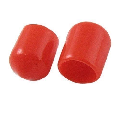 sourcingmap® 1000 x Rosso Morbido Plastica RCA Spina Cover Cappello per DVD Amplificatore AV Ricevitore