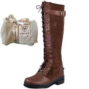 Ariat Coniston Boots, Chocolate, UK5 + Free Ariat Throw