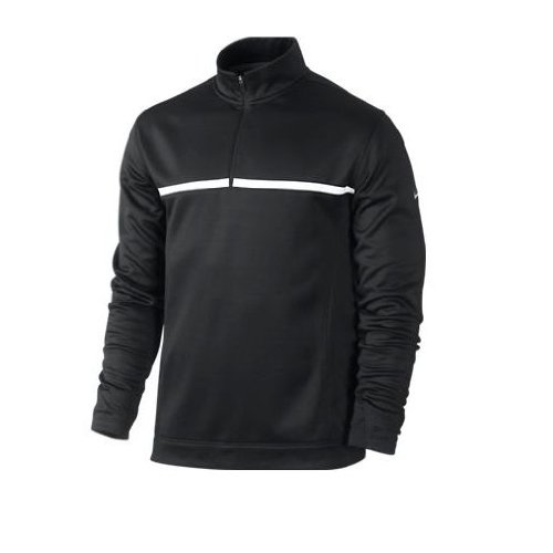 2013 Nike Golf Therma-Fit 1/2 Zip Thermal Cover Up Herren Pullover Schwarz L (Cover Golf Up Nike)