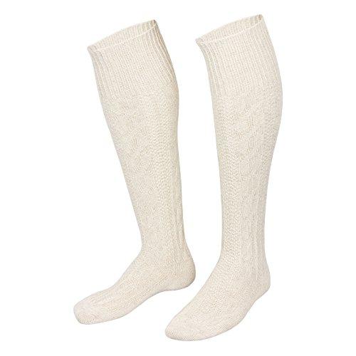 Piarini Trachtenkniestrümpfe Trachtensocken Herren | Kniebundhosen-Strümpfe mit Zopfmuster -