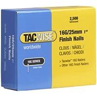 Tacwise 0666 Boîte de 2500 Clous de finition galvanisé 25 mm de Type 16G