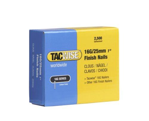 Tacwise 0666 Boîte de 2 500 clous de finition 25mm (16g)...