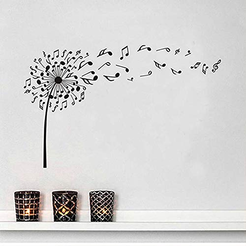 Kreative löwenzahn music notes vinyl diy wandaufkleber für kinderzimmer kindergarten traum von fliegen poster abziehbilder wandkunst dekoration a8 37 * 59 cm