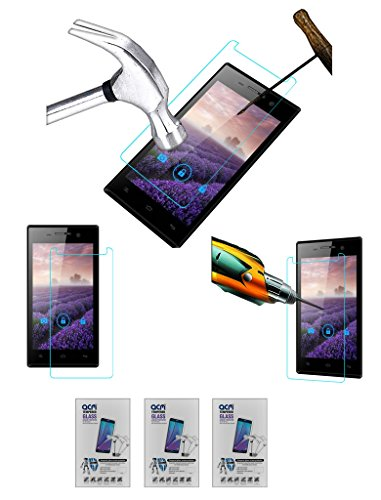 Acm Pack of 3 Tempered Glass Screenguard for Gionee Ctrl V4 Screen Guard Scratch Protector  available at amazon for Rs.279