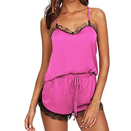 ❤️LANWINY Damen Sexy Body Dessous Reizwäsche Spitze Erotik Unterwäsche Strapsen Bodysuit Negligee Nachtwäsche Lingerie Babydoll Nachthemd mit Strumpfband -