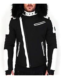 Veste Doudoune Homme Hiver Fury-3382 Bi-matière Noir - avec col Mega  Fourrure 97eee16c11c