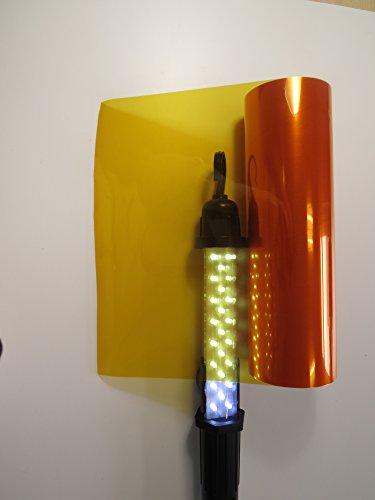 Könighaus Scheinwerfer Tönungsfolie Orange (Rückleuchten Blinker Nebelleuchten) 20 x 30 cm