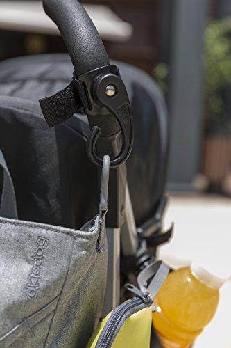okiedog Metro Wickeltasche Mondrian gelb - inklusive Wickelunterlage, Flaschenhalter, Zubehörbeutel und Taschenbefestigungssystem für den Kinderwagen - Polyester coral