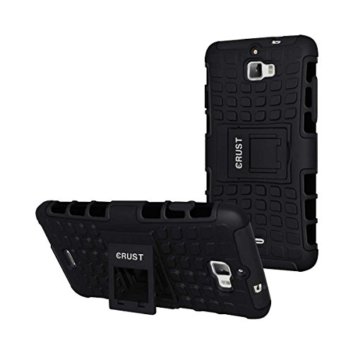 Crust Impact Series Kick Stand Back Cover For Coolpad Dazen 1 / Micromax Canvas Nitro A311 / Canvas Nitro A310, Shock Proof Dual Layer Hybrid Armor Case - (Black)