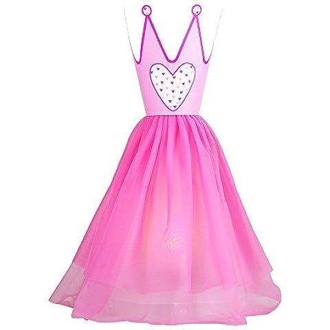 MiniSun - Divertida lámpara infantil de mesa con vestido y corona de princesa de cuento
