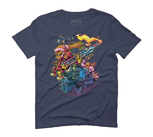 DOOF FINK Men's Graphic T-Shirt - Design By Humans Navy