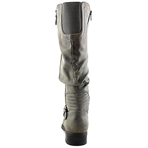 White Mountain Livery Femmes Large Synthétique Botte Stone