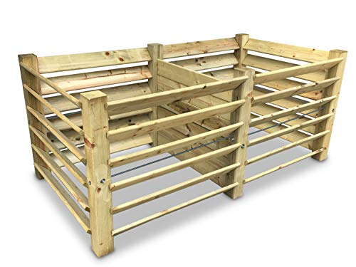 GartenDepot24 Doppel-Komposter Brettkomposter aus Holz 188x100x80 cm - ca. 1300 L