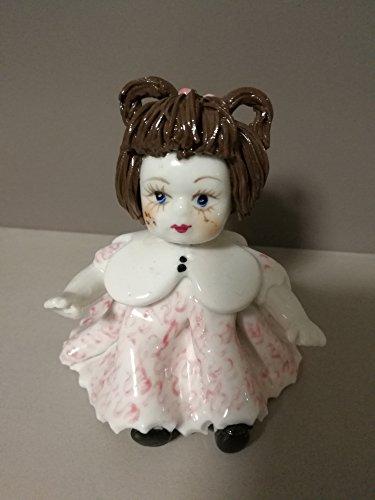 Stock 10 Mini-Poupée céramique h 15 cm